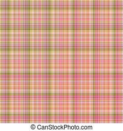 Seamless Pink and Green Plaid - Soft plaid in pinks and...