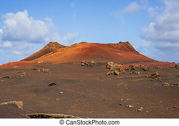 Mountains of fire, Timanfaya National Park in Lanzarote...