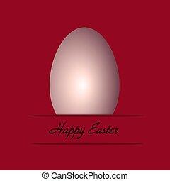 easter egg on pink background