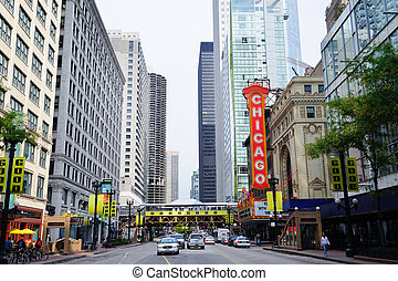 Chicago Theatre - CHICAGO, IL - Oct 6: Chicago Theatre and...