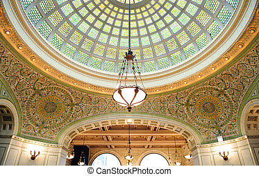 Chicago Cultural Center interior view