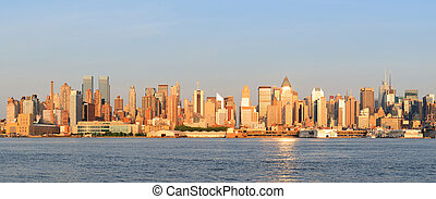 New York City Manhattan panorama - New York City Manhattan...