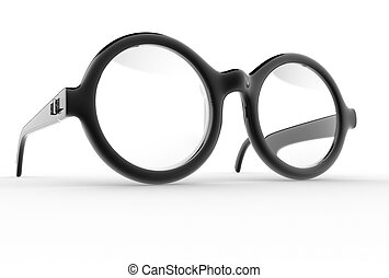Eyeglasses 3d render illustration
