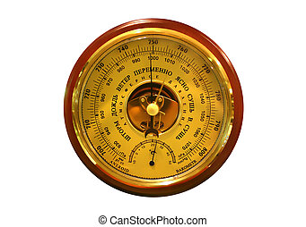 barometer on the white background
