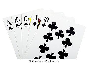 Royal flush cross for poker closeup - Royal flush cross for...