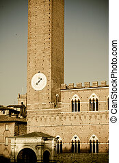 歴史的, 建築,  Siena