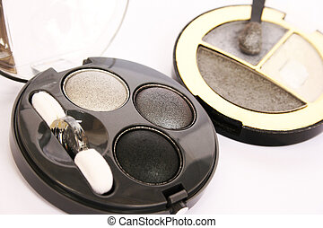Eye shadows on gray background