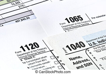 Tax forms. - Tax forms 1040,1120,1065. U.S Income Tax...