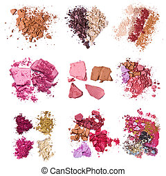 crushed eyeshadow - set of various crushed eyeshadows
