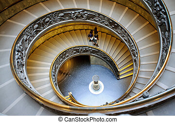 Spiral stairs of the Vatican, Rome - The famous spiral...