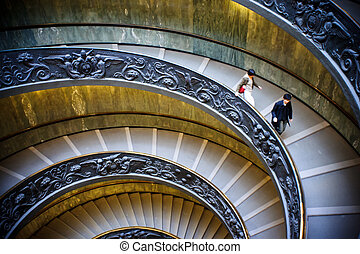 Spiral stairs of the Vatican, Rome.