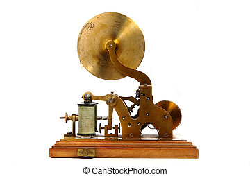 very old telegraph isolated on the white background