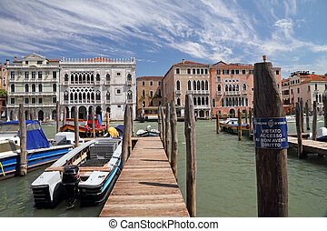 venetian landscape - The Grand Canal and Ca' d'Oro ( Palazzo...