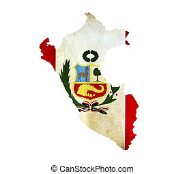 Map of Peru isolated