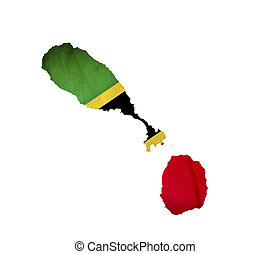 Map of Saint Kitts and Nevis isolated