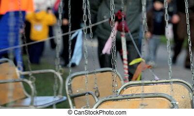 empty carousel - merry-go-round