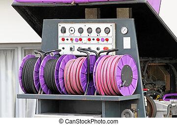 High pressure hose and power compressor
