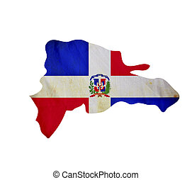Map of Dominican Republic isolated