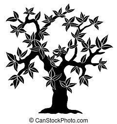 spring tree silhouette