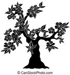 flowering tree silhouette