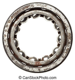 Ball bearing - Used rusty metal ball bearing, isolated Made...