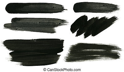 Ink strokes - Abstract painted ink strokes set.