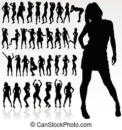girl silhouette in black color