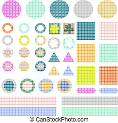 set of elements for scrapbook isolated