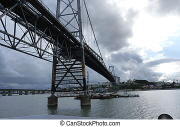 Hercilio Luz Bridge - The memorial Bridge of Florianopolis...