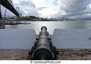 Fort - Picture of an Florianopolis Fort below of the...