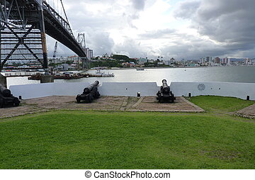 Bridge - Picture of an Florianopolis Fort below of the...