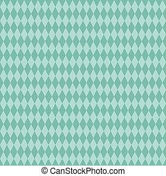 Seamless Aqua Diamond Background - Medium and light aqua...