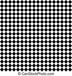 Black and White Diamond Checks - Seamless black and white...