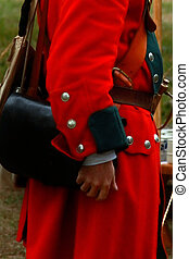 Man in military redcoat uniform - Man dressed in a vintage...