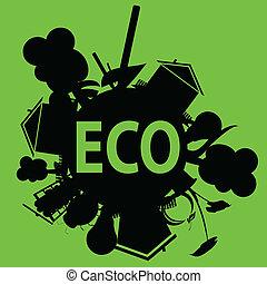 eco in black illustration