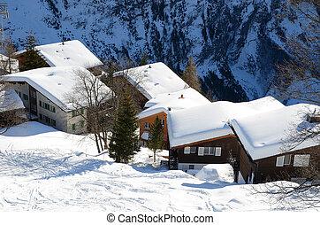Muerren, Swiss skiing resort