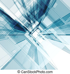 Abstract architecture background. 3d render