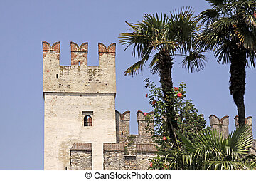 Sirmione, Scaliger castle, Italy - Sirmione, Scaliger castle...