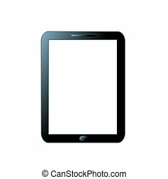 Blank tablet pc isolated on white