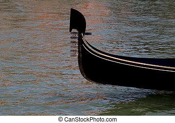 Venice, gondola detail, Italy