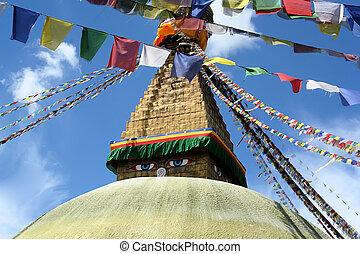 Kathmandu, Nepal - Buddha stupa in Kathmandu, Nepal