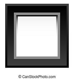 Black photo frame isolated on white background