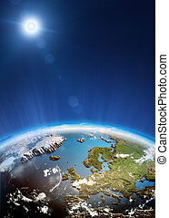 Europe from space Elements of this image furnished by NASA