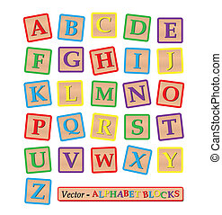 Blocks - Image of various colorful blocks with the alphabet...