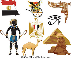Egypt Icons - Vector Illustration of several Egyptian icons...