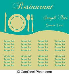 Sample Menu - Image of a sample restaurant menu with...