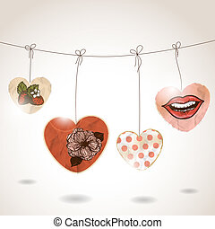 St Valentines day greeting card