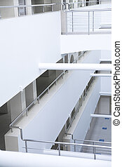 white details of an interior of modern office building