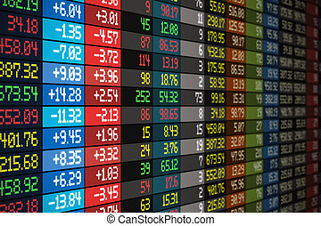 Stock market concept - Stock exchange market business...