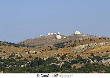 Crimean Astrophysical Observatory, located at the top of...
